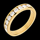 ventas on line   Alianza oro amarillo semi empedrado - engaste ra�l  - 0.75 quilates - 9 diamantes