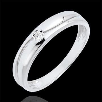Anillo Edén de amor oro blanco y diamante